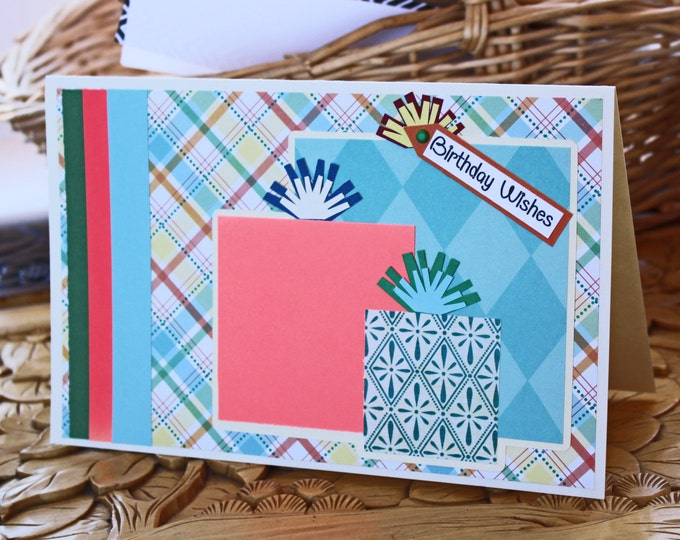 Colorful Presents Card, Birthday Gifts, Handmade Greeting, Kids Birthday, Teen Adult, Birthday Party Presents, Birthday, Female Girls Gift