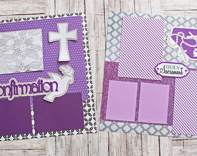 Pick Any Colors, Confirmation Day Page Set, Confirmed in Christ, Catholicism Faith, Holy Spirit, Custom Scrapbook Pages, Religious Sacrament