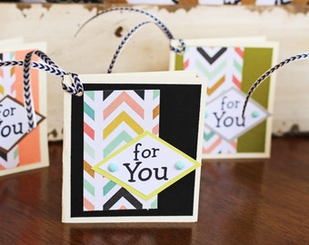 Set of 4, All Purpose Gift Tags, Handmade Gift Tags, Colorful Gift Tags, Gift Tags, Gifts, Tags, Chevron, Tags, Birthday Gift, Gift Tags