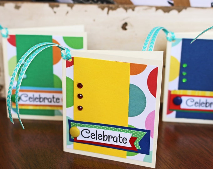 Set of 4, Birthday Gift Tags, Handmade Gift Tags, Colorful Gift Tags, Gift Tags, Gifts, Tags, Birthday Tags, Birthday Gift, Kids Gift Tags