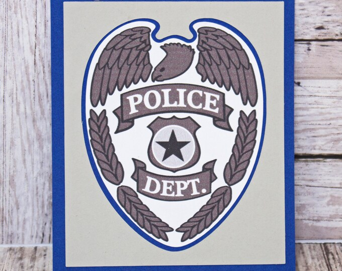 Police Officer Die Cut, Police Dept Die Cut, Police Die Cut, Law Enforcement Diecut, Police Officer Scrapbook, Police Station, Embellishment