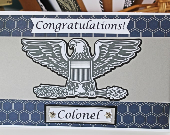 Air Force Promotion Card, Enlisted or Officer Ranks, Handmade US Air Force Card, Pinning on Ceremony, Promo Congrats, Custom USAF Rank Card