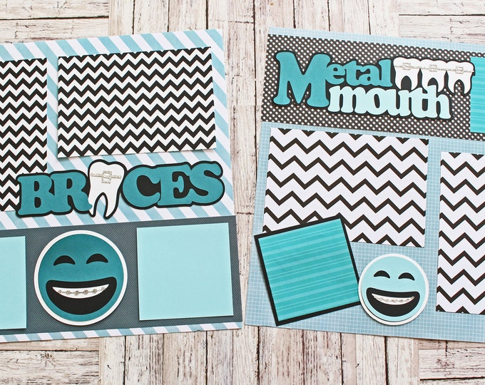 Any Color, Braces Scrapbook Page Set, Braces On, Scrapbook Pages, Train Track, Tinsel Teeth, Brace Face, Metal Mouth, Tin Grin, Tween Teens