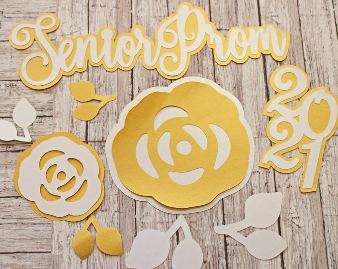 Any Color, Any Year, Senior Prom Die Cut Set, High School Events, Scrapbook, Diecuts, School Dance, Memory Book, Theme Kit, Unique Teen Gift