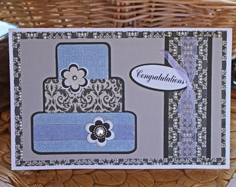 Layered Wedding Cake Card, Wedding, Congratulations, I do, Happily Ever After