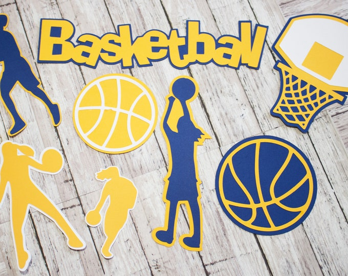 Any Color, Girls Basketball, Die Cut Set, Female, Scrapbooking Design, High School, Basket Ball, Team Color, Handmade Diecuts, Party Decor