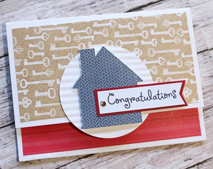 Housewarming Gift Card Holder, New Home Money Card, Handmade Greeting, New Home Congratulations, Housewarming Congrats, Real Estate Realtor