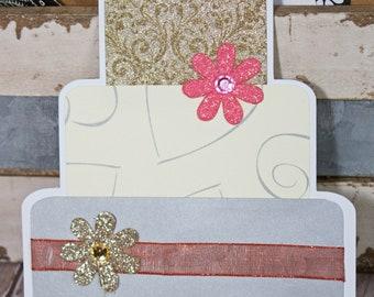 Layered Wedding Cake, Wedding Cake Die Cuts, Handmade Die Cuts, Wedding Die Cut, Wedding Scrapbook, Layered Cake Die Cut, Elegant, Wedding