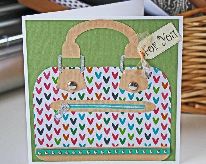 Custom Designer Handbag Greeting Card, Mother's Day Card, Birthday Card, Handbag Card, Fashion Card, Custom Card, Purse Card, Fashion Design
