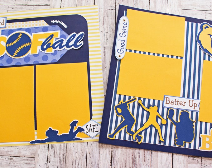 Any Sport, Pick Your Colors, Custom Made, Sports Scrapbook Page Set, Mascot Design, Personalized, Youth Teams, School Spirit, High School