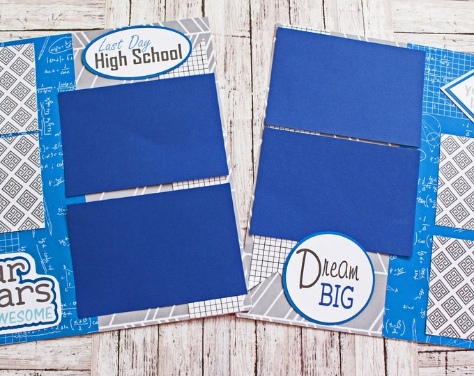 Any Color, Last Day, High School, Scrapbook Page Set, Scrapbook Page, High School Scrapbook, High School Years, High School Graduation Book