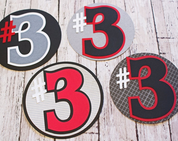 Any Color or Number, Jersey Number, Player #, Custom Die Cut Set, Teen High School Sports, Kids Youth Sports, Sports Page Scrapbook Diecuts