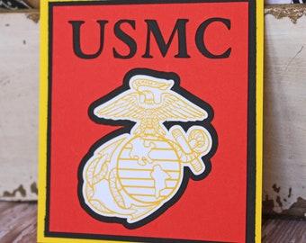 US Marine Corp Die Cut, Layered Die Cut, US Marine Die Cut, US Marines Die Cut, Military Die Cut, Die Cut, Marine, Corp, Die Cut, Scrapbook