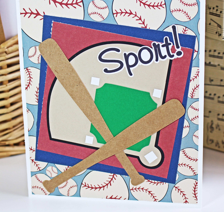 Handmade Baseball Card, Custom Card, Baseball Birthday Card