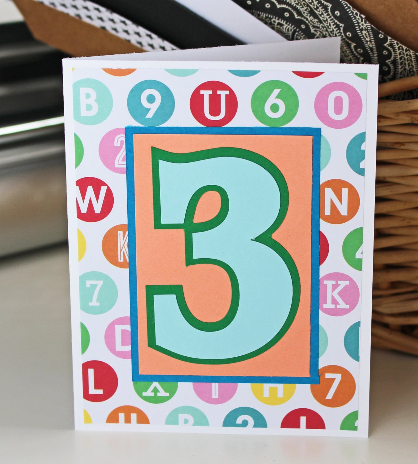 Custom Birthday Number Card Handmade Greeting 1st 2nd 3rd 4th 5th Kids Toddler Child Baby Boy Or Girl Party Theme