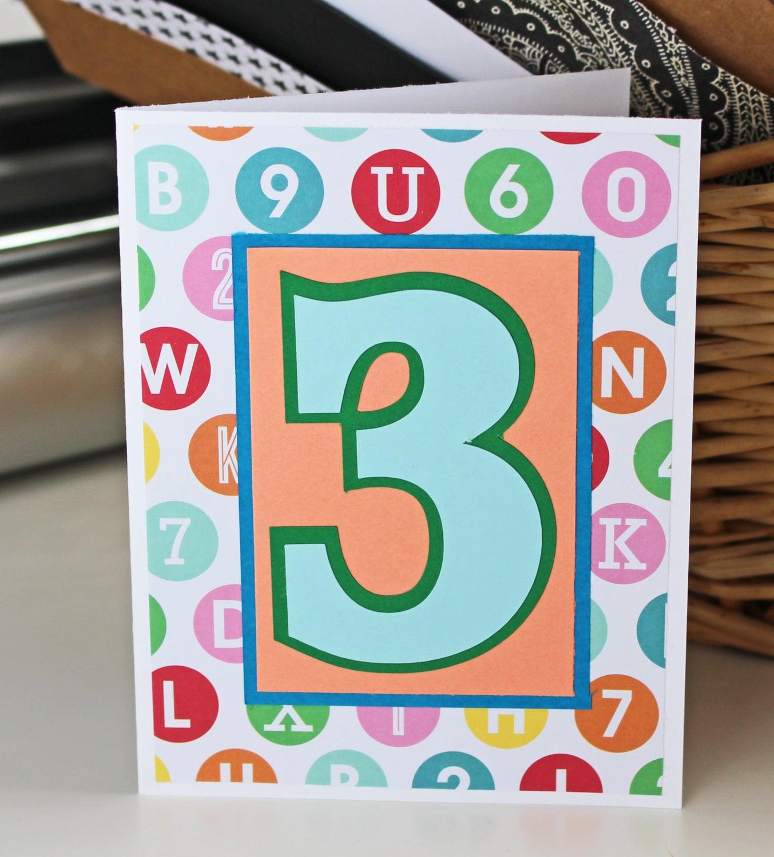 Custom Birthday Number Card Handmade Greeting 1st 2nd 3rd 4th