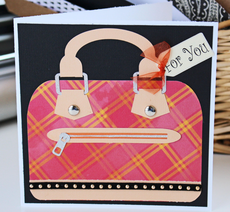 Custom Designer Handbag Greeting Cards Mothers Day Cards Birthday