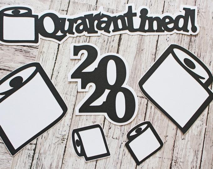 Quarantined Toilet Paper Diecuts, Handmade Die Cut Set, Scrapbooking Embellishment, 2020 Coronavirus Outbreak, Out of TP, Historic Events