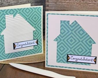 Modern, House Warming, Handmade Card, Retro House, Southwest Print, New Home, Congratulations, Housewarming, Congrats, First Home, Greeting
