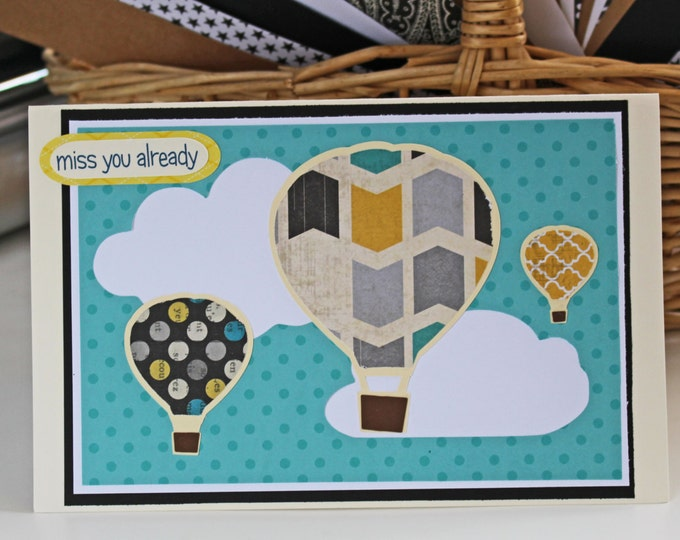 Hot Air Balloon Card, Going Away Card, Congratulations Card, Graduation Card, Get Well Card, Birthday Card, Encouragement Card