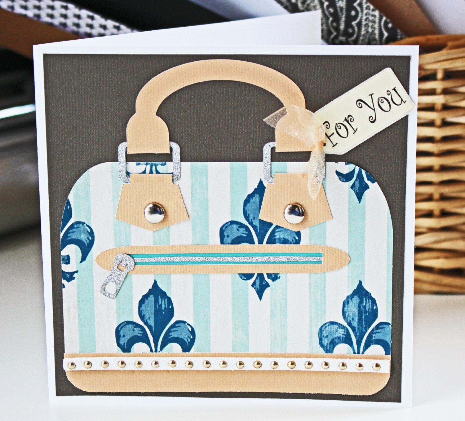 Custom Designer Handbag Greeting Cards Mothers Day Cards Birthday
