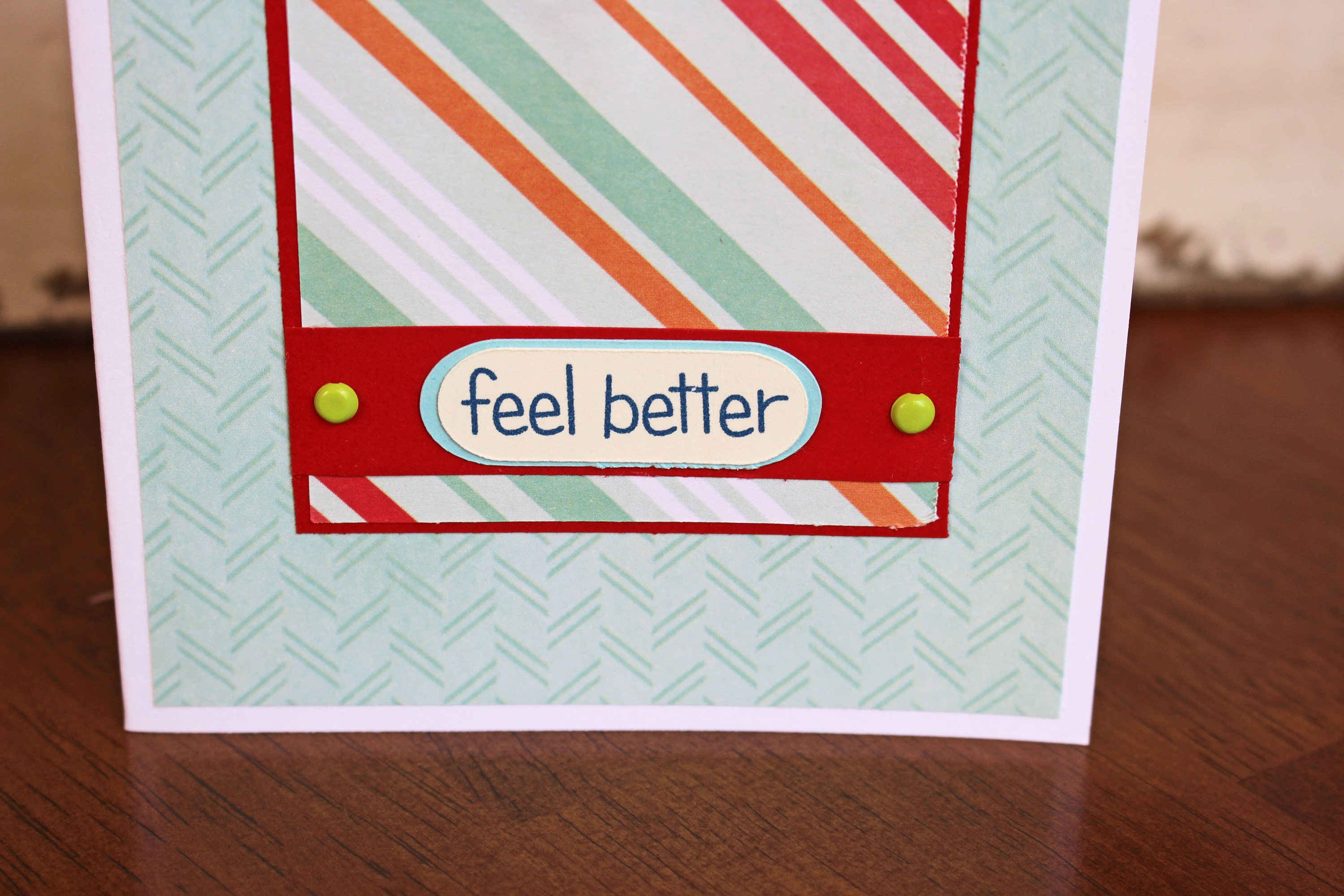 tissue box feel better card tissue box card get well card feel