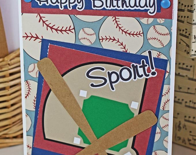 Team Colors, Custom Baseball Softball Card, Soft Ball Birthday, Baseball Greeting, Handmade Play Ball Card, Banquet Theme Party, Ball Field