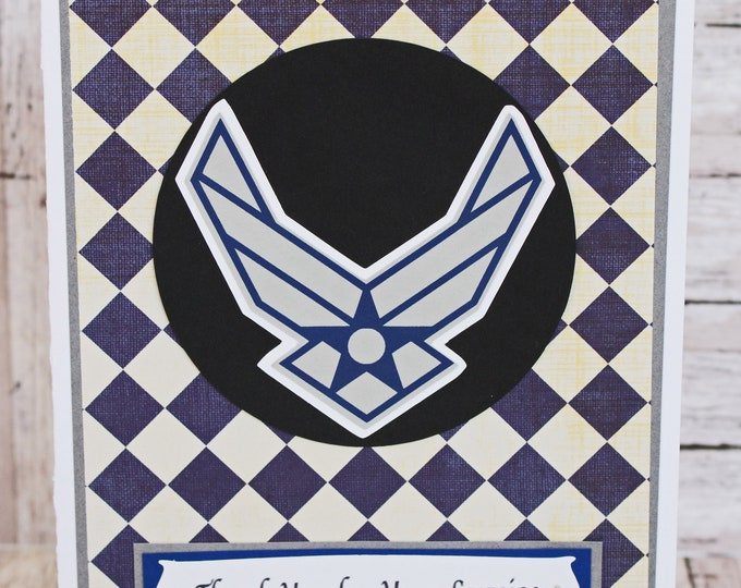 US Air Force Card, Air Force Retirement, Air Force Promotion, Air Force Graduation, Handmade Card, Air Force Card, Air Force Congrats Card