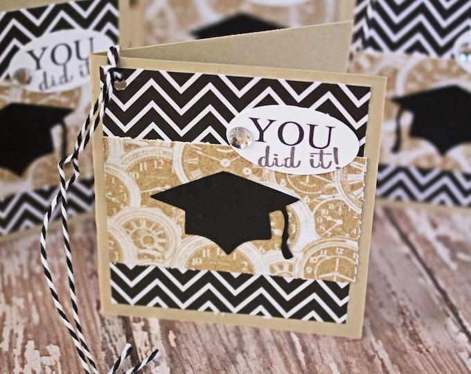 Set of 4, Graduation Gift Tags, Handmade Gift Tags, Graduation Cap Tags, Gift Tags, Graduation Cap, Tags, Graduation, Party, Hang Gift Tags