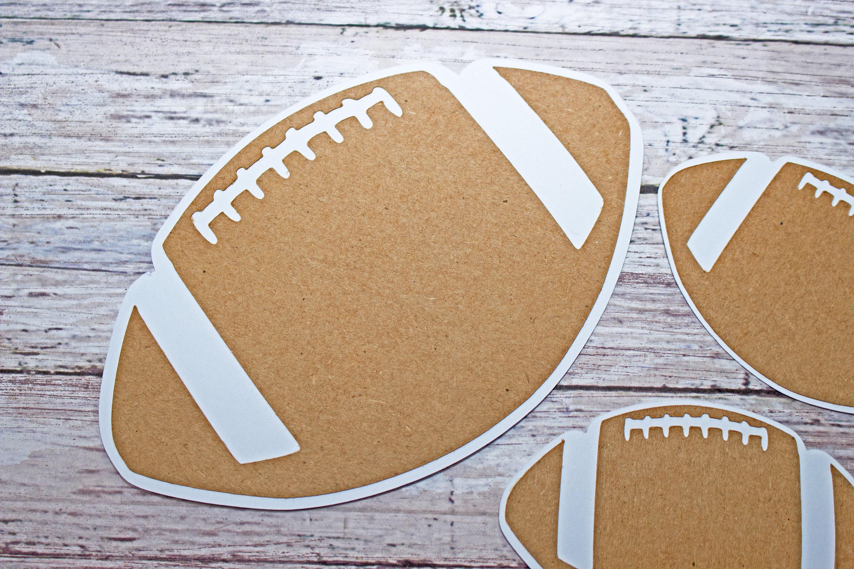 football die cuts football scrapbook high school die cut high