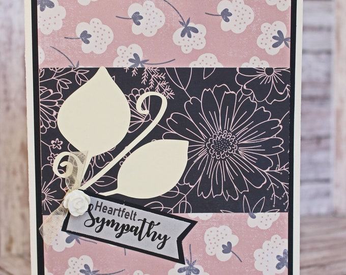 Heartfelt Sympathy Card, Handmade Bereavement, Sorry for Your Loss, Thinking of You, You're in Our Thoughts, Praying for You, Time of Sorrow