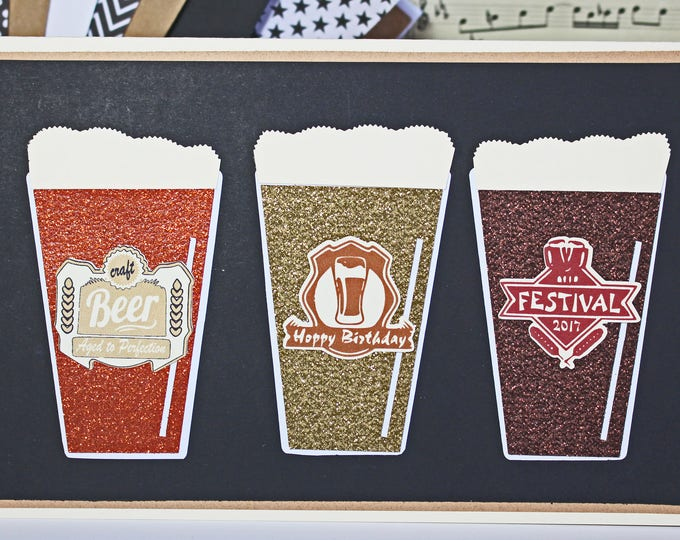 Craft, Beer, Hoppy, Birthday, Card, Micro, Brew, Brewery, Pale, Ale, IPA, Stout, Draft, Flight, Handmade, 21st, 30th, 40th, 50th, Any, Year