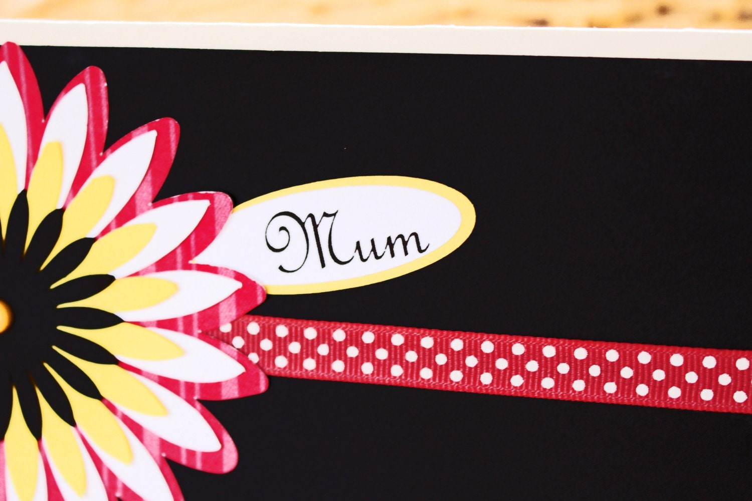 Custom Chrysanthemum Card Any Message Mothers Day Birthday