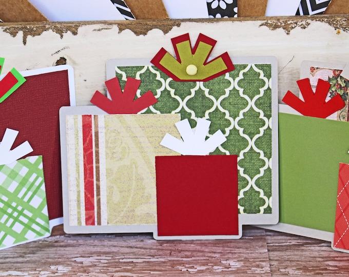 Christmas Present Die Cut, Layered Die Cut, Scrapbook, Embellishment, Christmas, Christmas Die Cut, Christmas Gift, Holiday, Handmade, Tags