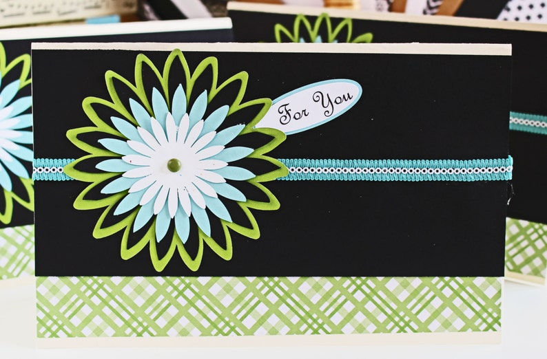 Choose Front Message Handmade Mum Card Chrysanthemum image 0