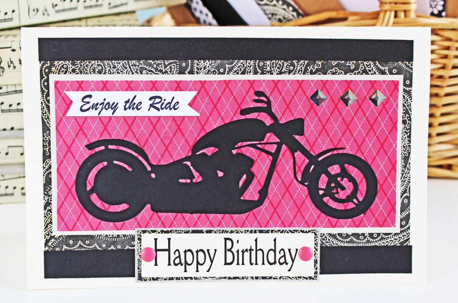 Pink Motorcycle Card, Enjoy the Ride, Birthday Card, Mother\'s Day ...