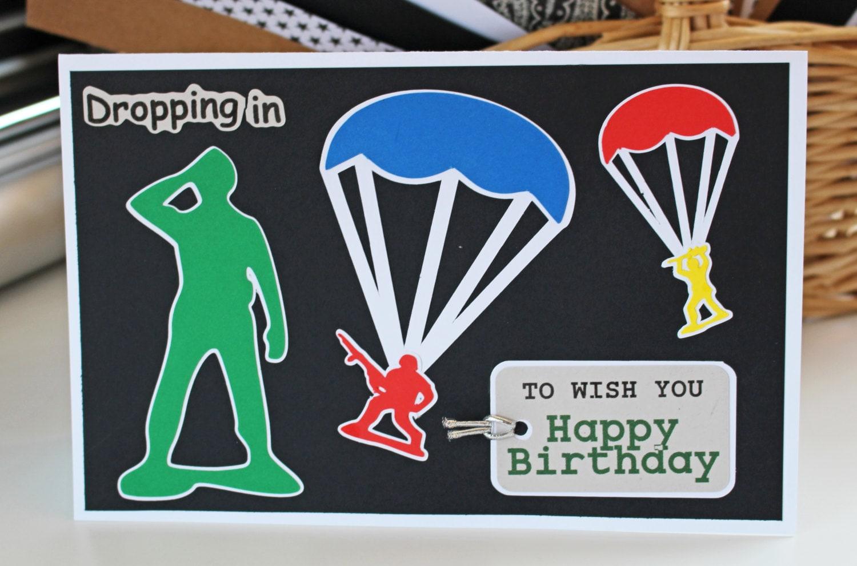 Boys Army Birthday Card Little Green Army Men Personalized