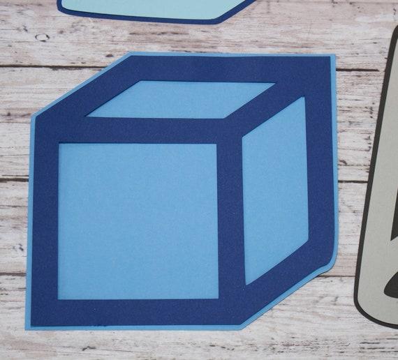 N'importe quel 2 couleurs, couleurs, 2 ensemble de 4 couches boÓtes, formes géométriques, Die personnalisé coupe ensemble, classe de maths sciences, élémentaire, Collège Junior, High School 100731