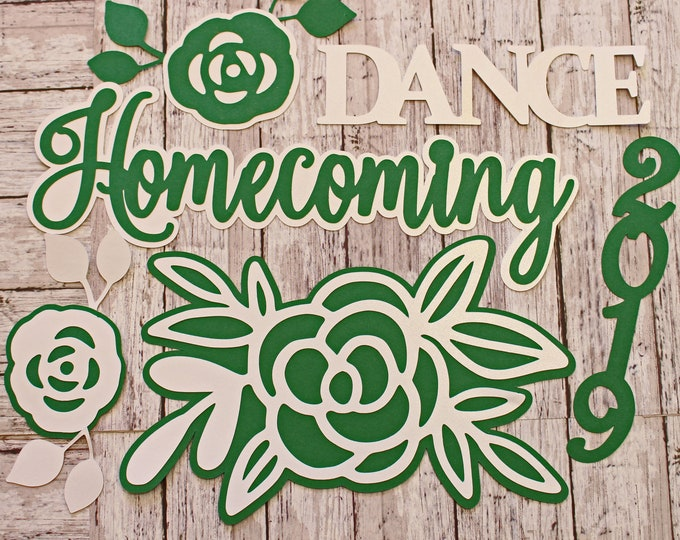 Any Color, Any Year, Homecoming Die Cut Set, High School Events, Scrapbook, Diecuts, School Dances, Memory Book, Theme Kit, Unique Teen Gift