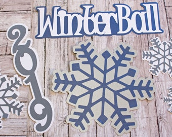 Pick Your Colors, Custom Made, Winter Ball Die Cut Set, Formal Dance, High School Scrapbook, Memories Keepsake, Teenage Gifting, Memory Book
