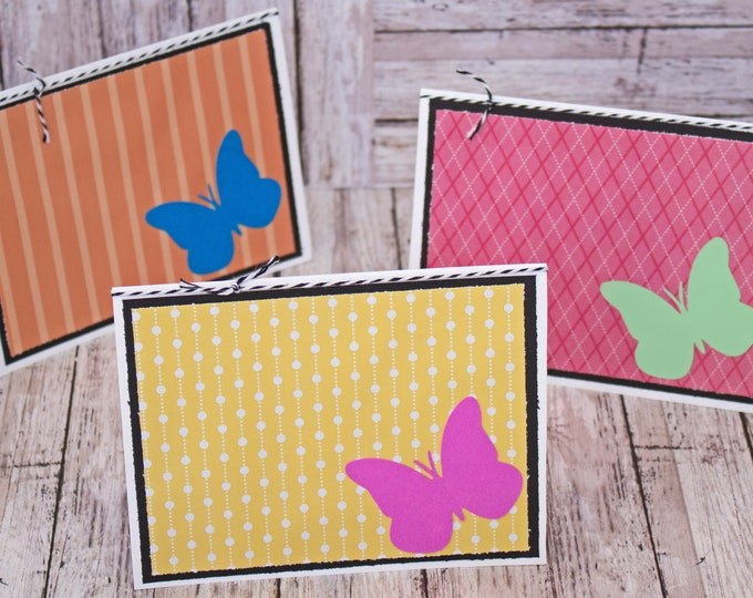 Set of 3, Butterfly Note Cards, Butterfly Gift Tags, Handmade, Note Cards, Butterfly, Gift Card, Gift Wrap, Monarch, Butterflies, Stationary