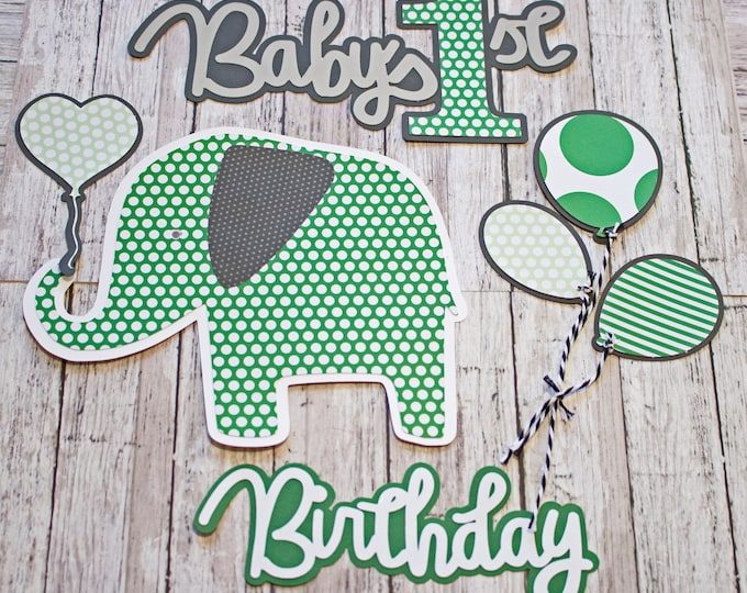 Any Color or Gender, Any Age or Theme, Set of 7 Layered Die Cuts, Scrapbook Embellishment, Birthday Diecuts, Baby Book, Handmade Custom