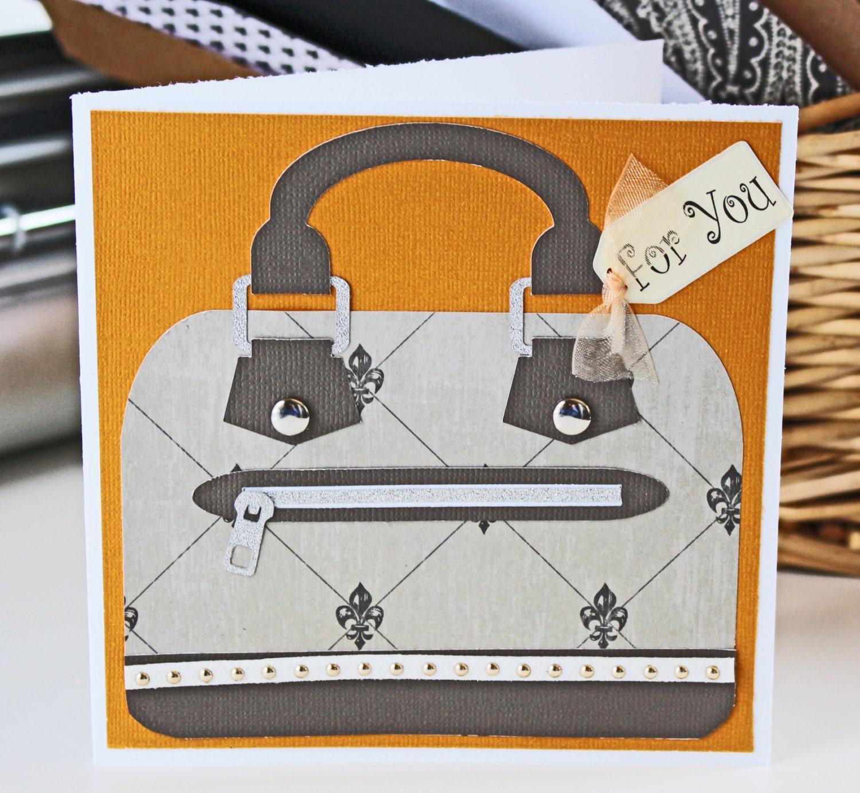 Custom Designer Handbag Greeting Card Mothers Day Card Birthday