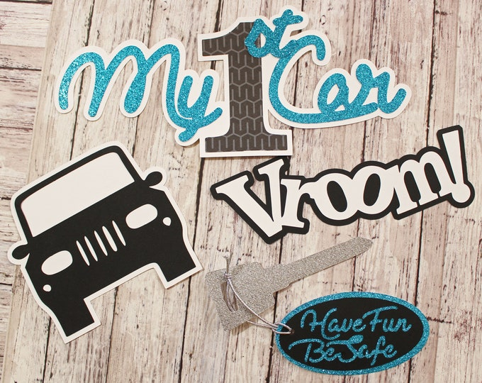Personalized, Custom Colors, My First Car, Die Cut Set, Layered Scrapbook Embellishments, Teen Driver Diecuts, Hand Crafted, High School
