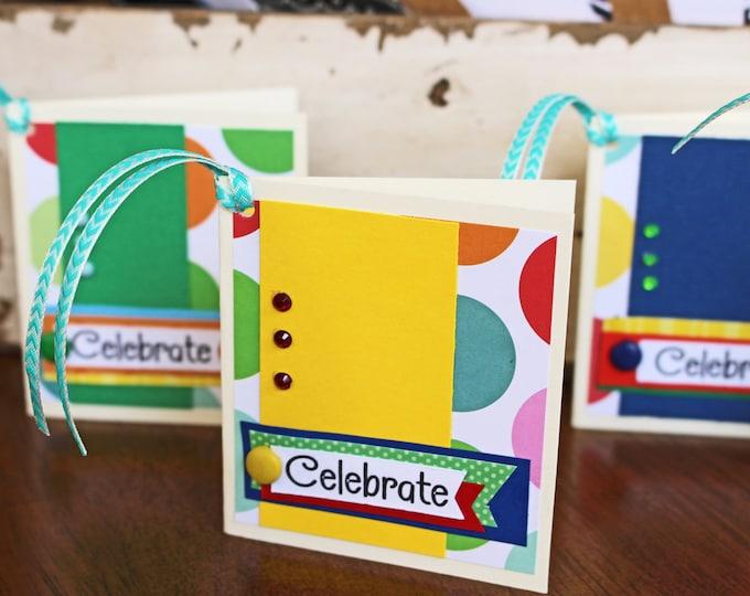 Set of 4, Birthday Gift Tags, Handmade Gift Tags, Colorful Gift Tags, Gift Tags, Gifts, Tags, Birthday Tags, Birthday Gift, Kids Gift Tags