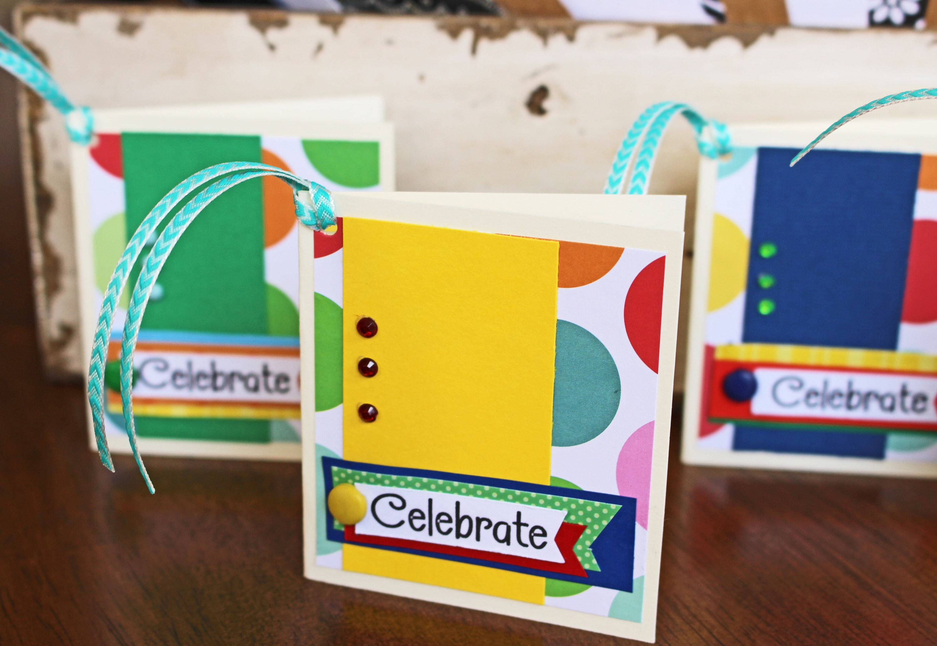 Set Of 4 Birthday Gift Tags Handmade Colorful Gifts Kids