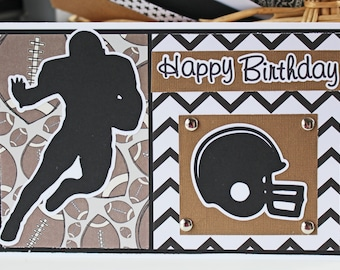 Any Color Football Card, Football Birthday, End of Season Congrats, Foot Ball Team Player, Team Colors, Custom Personalized, Happy Birthday