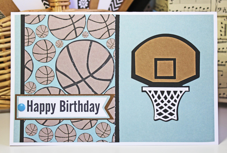 personalized card basketball birthday card handmade birthday card