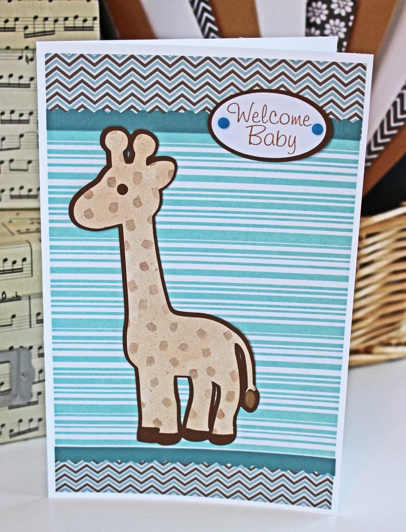 Baby Safari Animal Card  Noah's Ark Theme Shower Baby image 0