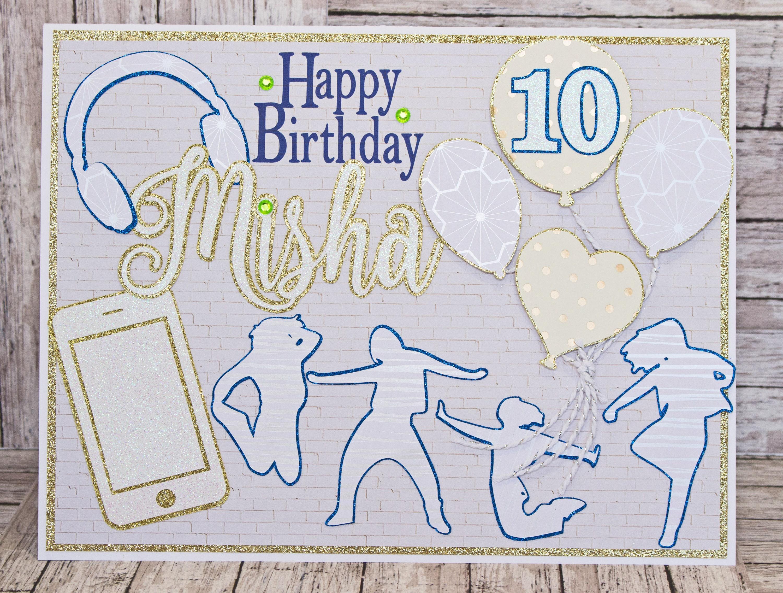 custom designed jumbo sized birthday card milestone
